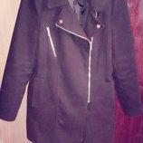 Мега крутое пальто косуха new look