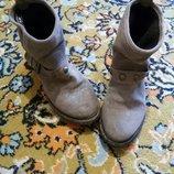 Крутые замшевые ботинки, размер 36