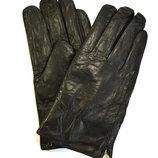 Мужские кожаные перчатки на натуральной овчинке на пол руки
