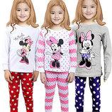 Детские пижамы для девочек Minnie Mouse реальные фото