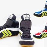 Обувь для борьбы/борцовки замшевые Zelart 4858, 3 цвета размер 33-44