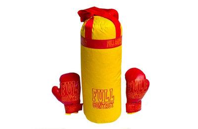 Боксерский набор груша 55 20см перчатки Full большой желтый данко тойс Danko toys 11523