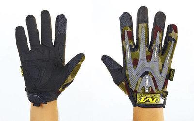 Перчатки тактические с закрытыми пальцами Mechanix 4699 размер L-XL, камуфляж