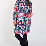 Длинное зимнее двухстороннее пальто для беременных Kristin print