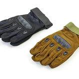 Перчатки тактические с закрытыми пальцами и усиленным протектором Oakley 4623 размер M-XXL, 2 цвета