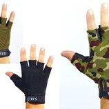 Перчатки тактические с открытыми 4379, 3 цвета размер L