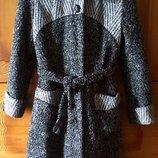 пальто женское M-L-XL демисезон/зимнее с капюшоном мех
