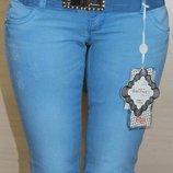 Поделиться Голубые женские джинсы с поясом, турция, размеры 26,27,28,29 маломерка, снизили цену