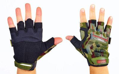 Перчатки тактические с открытыми пальцами Mechanix 4927 размер L-XL