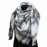 Шарфик женский белый Акриловый шарф - палантин
