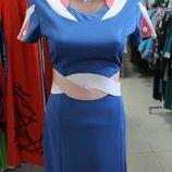 Молодежное платье из рельефного трикотажа, р.44 распродажа
