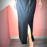 Длинная офисная юбка на подкладке длина - 94 см