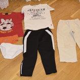 Футбольные брючки HandM,2шт футболки,летние брючки,трусы Mothercare