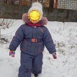 Зимний детский комбинезон для девочки на 2-3 годика