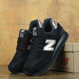 Женские кроссовки New Balance 574. Black