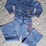 Джинсовый костюм джинсы джинси пиджак Colabear, рост- 150, 10-11 лет.