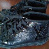 Louis vuitton оригинал кожа туфли-ботинки-сникерсы-кеды демисезон 27р 18см