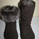 Сапожки зимові стильні шкіряні дуже теплі TU Оригінал р.7 стелька 15 см