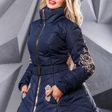 Модная зимняя куртка с эксклюзивной вышивке 877