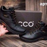 Внимание Мужские кожаные зимние ботинки Ecco . Прошиты проклеены, Проверенное качество 40-45