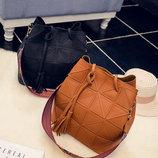 Стильный набор, сумка и клатч с красочным поясом В Наличии