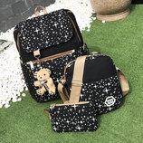 Большой звездный набор рюкзак, сумка и клатч, с брелком В Наличии
