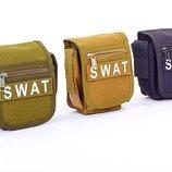 Сумка тактическая на пояс SWAT 3 цвета, размер 15х11,5х6см