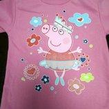 Гольф для девочек Свинка Пеппа, водолазка теплая 116-122