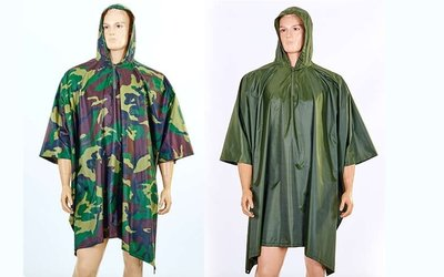 Дождевик плащ палатка 6309, 2 цвета нейлон, размер 165х275см
