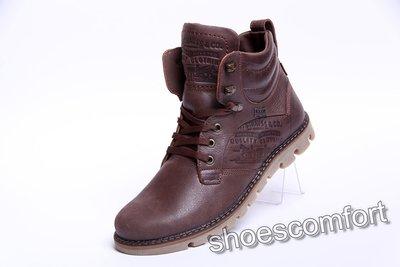 Кожаные зимние ботинки Levis Leather Jax Shoes коричневые