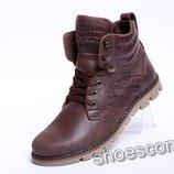 Кожаные зимние ботинки Levi's M 25 - 04 коричневые