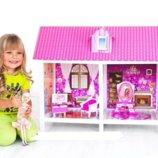 Кукольный домик две комнаты, мебель кукла 66882