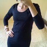 Спортивное мини платье с длинным рукавом черное от Sutherland-M-ка