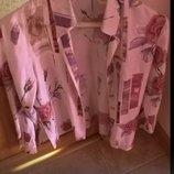Симпатичная блуза-рубашка классического кроя