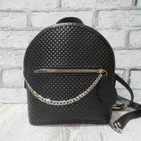 Рюкзак женский Шайн натуральная кожа,черный комбинированный