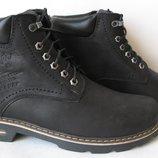 Супер Wrangler Мужские зимние ботинки черные натуральная кожа обувь сапоги