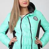 Теплая демисезонная куртка для беременных, в спортивном стиле, мята
