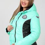 Распродажа Теплая демисезонная куртка для беременных, в спортивном стиле, мята