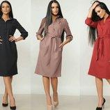 Фирменное женское платье-рубашка Диона, р.42-50