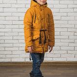 Стильная куртка-парка для мальчика
