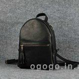 Кожа. Ручная работа. Женский рюкзак из натуральной кожи черный K00022-1