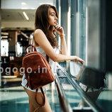 Кожа. Ручная работа. Женский рюкзак из натуральной кожи светло-коричневый K00022-5