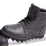 Кожаные зимние ботинки Levi's M - 01 черные высокие