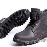 Кожаные зимние ботинки Levi's Shoes высокие черные