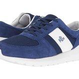 Синие кроссовки замша и текстиль бренд Ralph Lauren р. 39