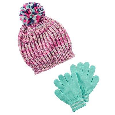 Комплект шапка и перчатки для девочки Carters радуга