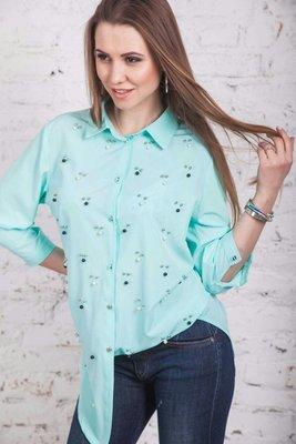 Модная и стильная женская блузка, цвет электрик, красный, мята, размер 50-54 можно на 56 р