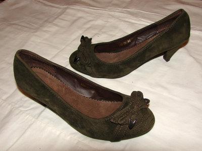 Туфли замшевые 37 р., 23 см