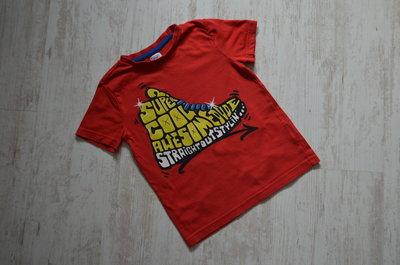 Яркая футболка на 5-6 лет