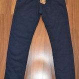 Подростковые утепленные брюки темно-синего цвета